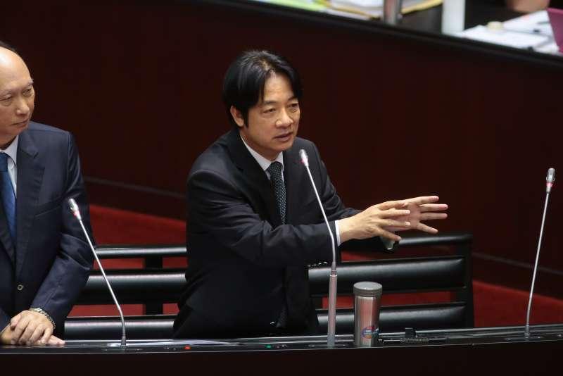 20181127-行政院長賴清德27日於立院針對「1021普悠瑪事故等東部交通輸運問題」備詢。(顏麟宇攝)
