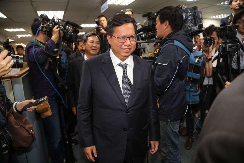 20181128-桃園市長鄭文燦28日出席民進黨中常會。(顏麟宇攝)