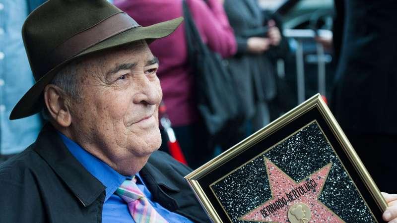 貝納多·貝托魯奇的名字,永遠留在好萊塢星光大道上。(圖/BBC中文網)