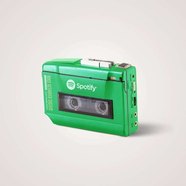 串流音樂平台Spotify概念是隨身聽。(圖/城市美學新態度)