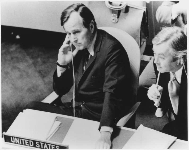 1971年,老布希擔任美國駐聯合國大使。(wikipedia/Public Domain)