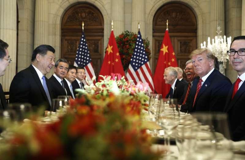 20181201-阿根廷G20峰會,美國總統川普與中國國家主席習近平達成共識,美方宣布不在2019年1月1ˋ日調高關稅至25%。(AP)