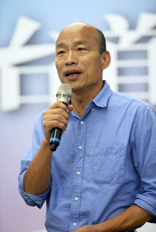 韓國瑜強調就職典禮會延續選舉期間的同樂會風格,就職典禮當天晚上還會有音樂表演。(圖/徐炳文攝)
