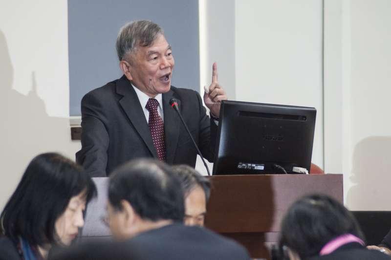 20181203-立法院經濟委員會,經濟部長沈榮津。(甘岱民攝)