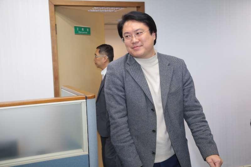 20181205-民進黨代理主席林右昌5日出席民進黨中執會。(顏麟宇攝)