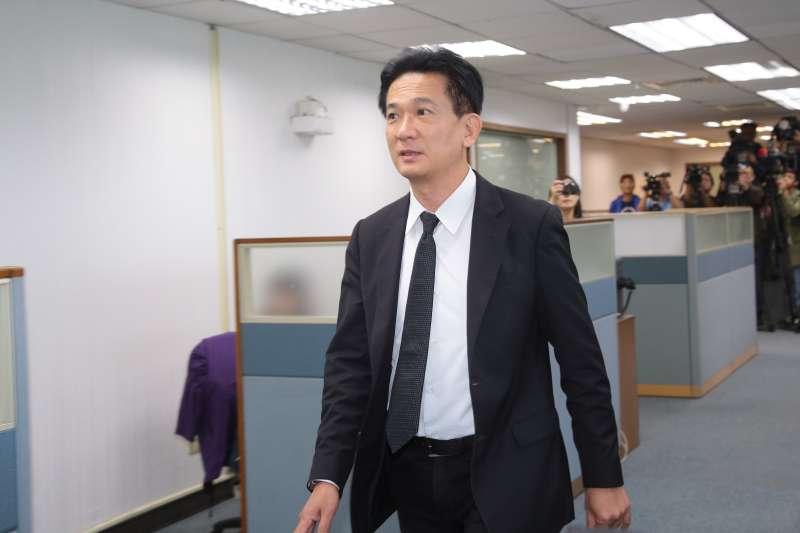 20181205-民進黨立委林俊憲5日出席民進黨中執會。(顏麟宇攝)