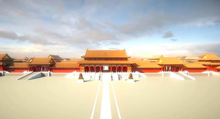 《當個創世神》的玩家耗費 3 年在遊戲裡搭建起故宮全貌。(圖/愛范兒提供)