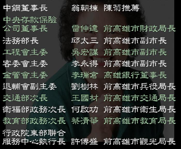 網傳陳菊人馬。