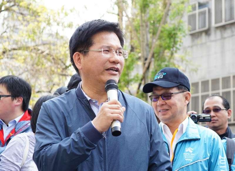 20180325-台中市長林佳龍偕同參訪綠川柳川園道。(盧逸峰攝)