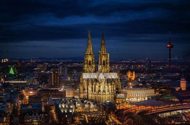 科隆(Köln)是德國西部的大城市,截至2017年底約有108萬人口。(圖為科隆大教堂,取自Pixabay)