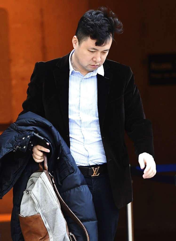 2018年12月10日,華為副董事長孟晚舟的先生劉曉棕出席孟晚舟保釋聽證會。(AP)