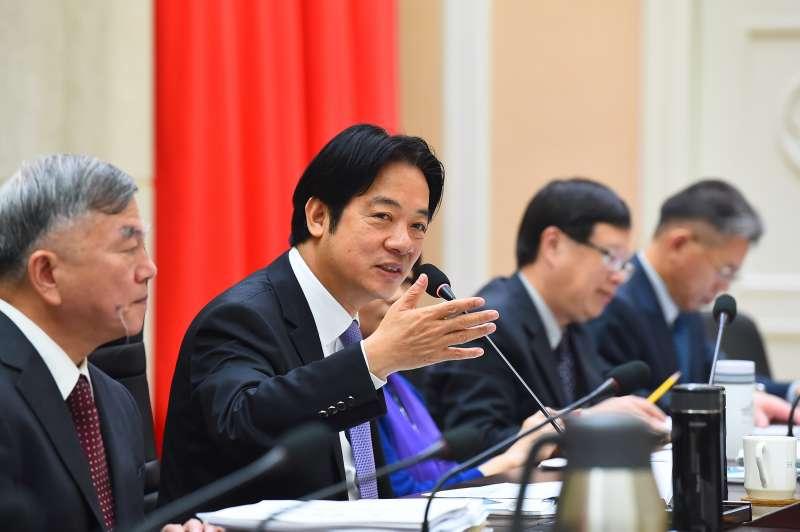20181211-行政院長賴清德11日上午邀集工商團體召開「最新經濟策略座談」。(行政院提供)