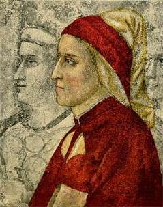 喬托繪製的但丁,於佛羅倫斯巴杰羅宮的小教堂壁上。(作者提供)