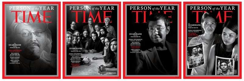 《時代》雜誌2018年度風雲人物:「守護者與真相之戰」。(Time@facebook)