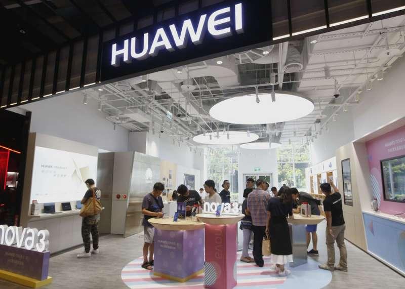 華為是中國研發實力最強的電子企業,在5G開發上也居於前列。(郭晉瑋攝)
