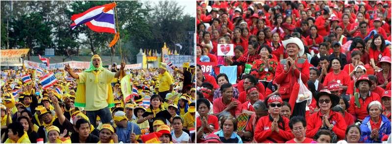 泰國「紅衫軍與黃衫軍」(AP)