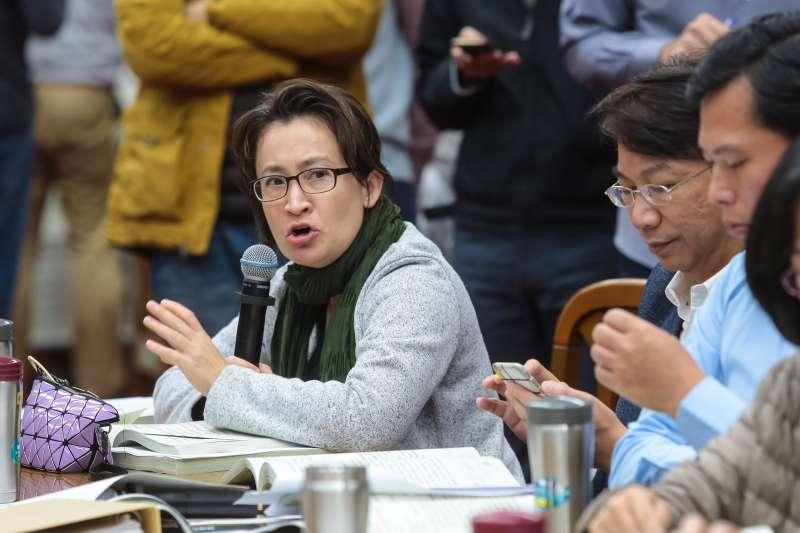 20181213-民進黨立委蕭美琴13日於財政委員會審查前瞻基礎建設預算。(顏麟宇攝)