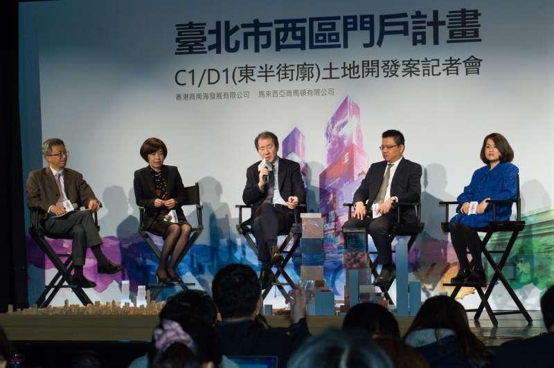 20181217-香港商南海發展 台北CITY ONE團隊新聞發布會。(甘岱民攝)