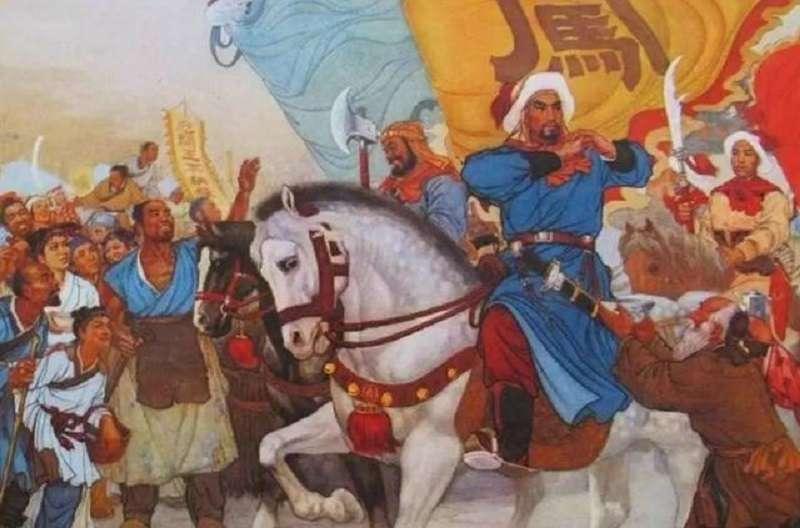 李自成當年以一句「迎闖王不納糧」贏得民心激起民變。(網路示意圖)