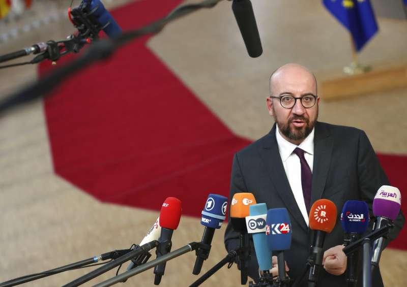 比利時總理米歇爾(Charles Michel)簽署《全球難民契約》,使極右派政黨退出執政聯盟,米歇爾18日請辭總理。(AP)