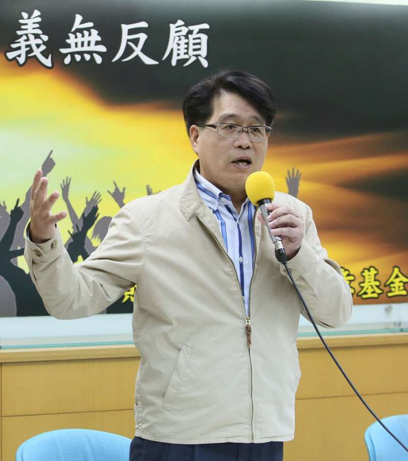 游盈隆宣布參選,激發綠營內部的危機感。(柯承惠攝)