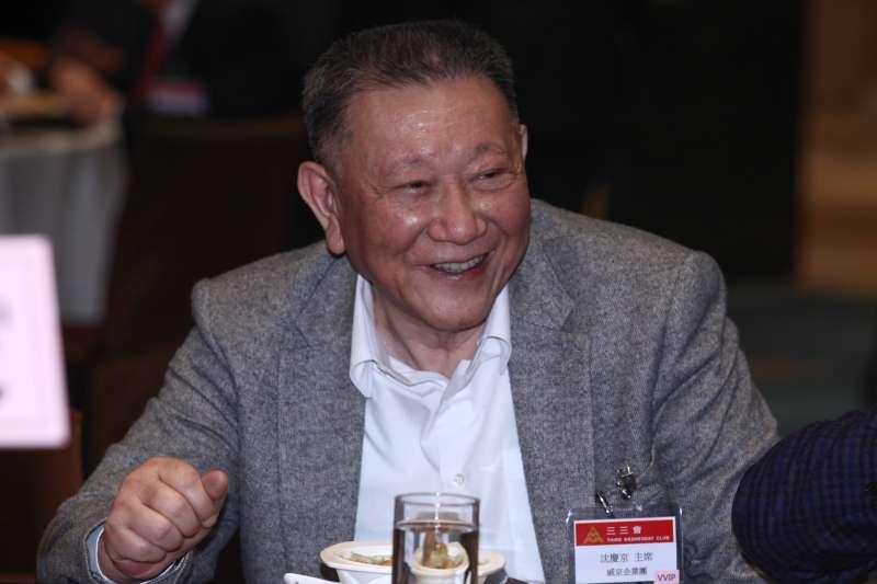 20181219-三三會12月份例會,圖為威京企業沈慶京主席。(蔡親傑攝)