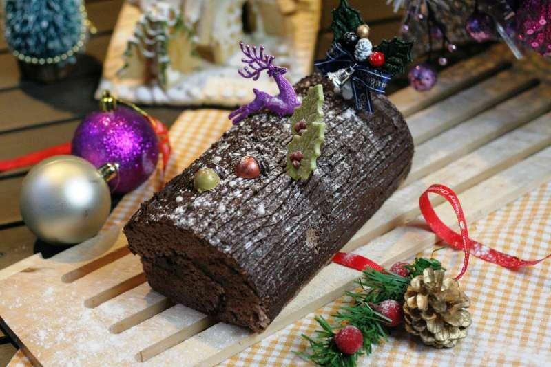 法國的耶誕節家家戶戶都必吃的甜點-樹幹蛋糕(圖/永安ˊ棧)