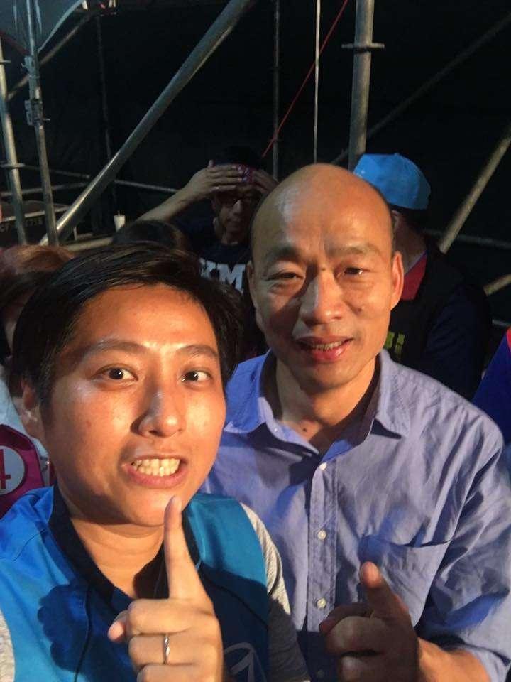 20181117_朱挺玗(左)和韓國瑜(右)。(翻攝朱挺玗臉書)