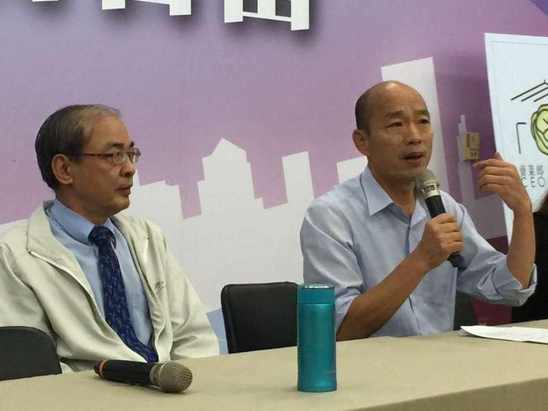 準高雄市長韓國瑜發佈27位小內閣名單。(圖/徐炳文攝)