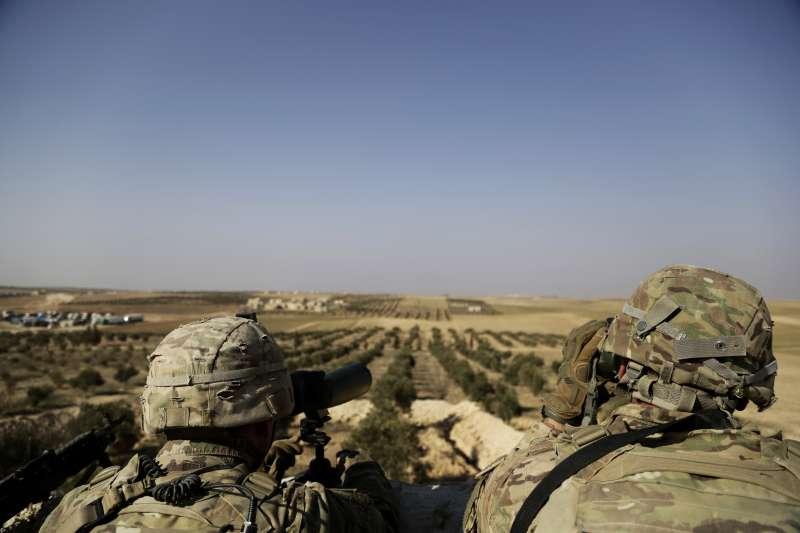 駐紮敘利亞的美軍(AP)