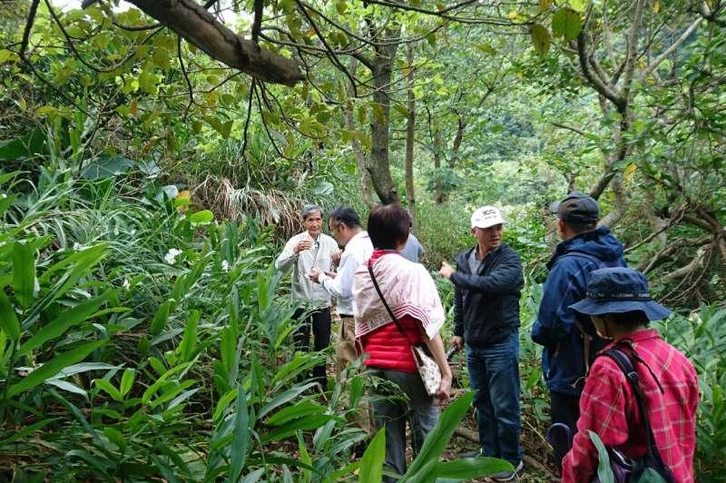 瑞芳三安社區社區解說導覽希望大家一起努力,攜手共創幸福礦山。(圖/新北市農業局提供)