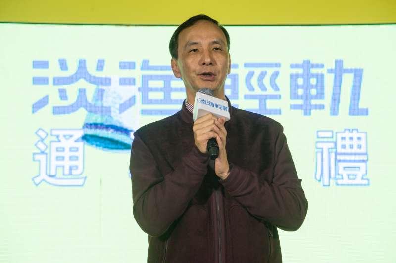 20181223-淡海輕軌通車典禮,新北市長朱立倫致詞。(甘岱民攝)