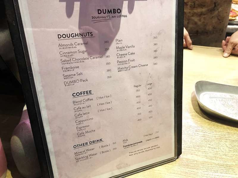 Dumbo Donuts菜單(圖/KKday)