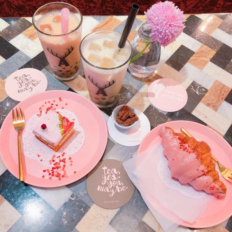 讓人少女心大爆發的粉色系甜點。(圖/KKday)