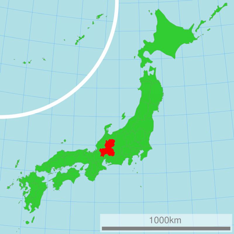 岐阜縣位置。(Lincun@Wikipedia/CC BY-SA 3.0)