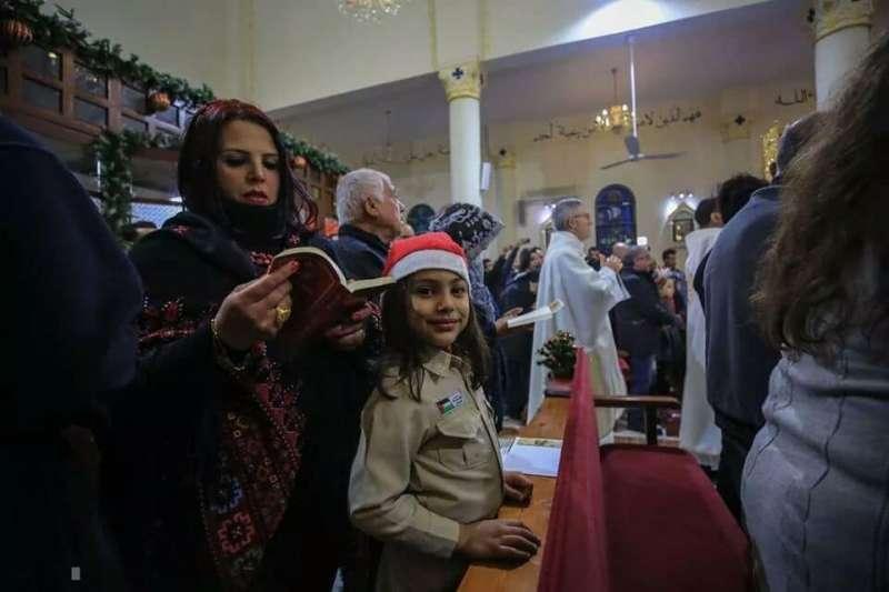巴勒斯坦加薩走廊基督徒的聖誕節。(翻攝自巴勒斯坦基督聯合會Christians United For Palestine 臉書)