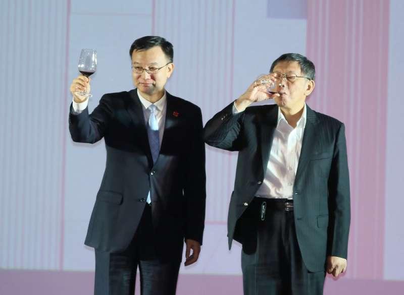 台北上海雙城論壇,首度拉高規格由國台辦指定第一副市長周波(左)與會。(柯承惠攝)
