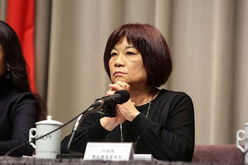 20181227-國發會主委陳美伶27日於院會後召開記者會。(顏麟宇攝)