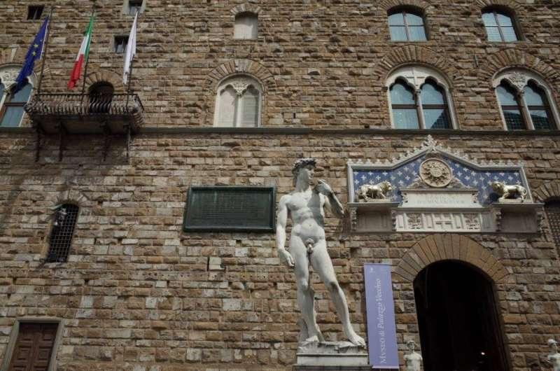 領主廣場上的大衛像(圖/良月,城市美學新態度提供)