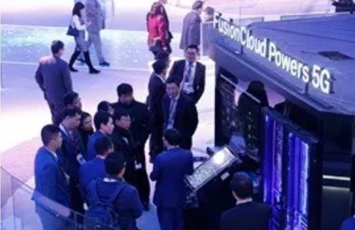 2018 世界移動大會上的華為 5G 展位(來源:官網)