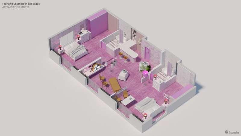 Ambassador Hotel房間透視圖。(圖/瘋設計)