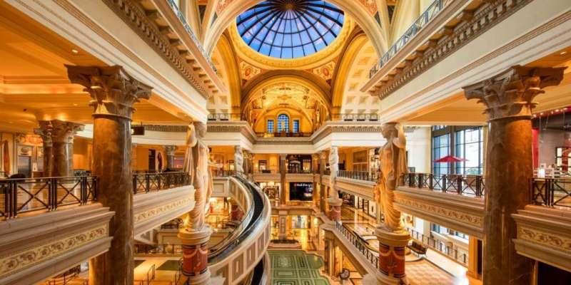 Caesars Palace in Las Vegas飯店一景。(圖/瘋設計)