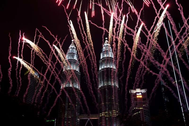 2018/2019跨年煙火,馬來西亞吉隆坡(AP)