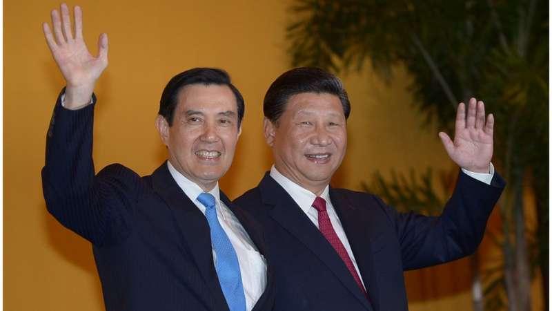 2015年,馬英九與習近平會面,標誌兩岸關係的其中一個重要時刻。(圖/BBC中文網)