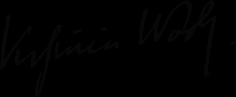 吳爾芙親筆簽名(Wikipedia/Public Domain)