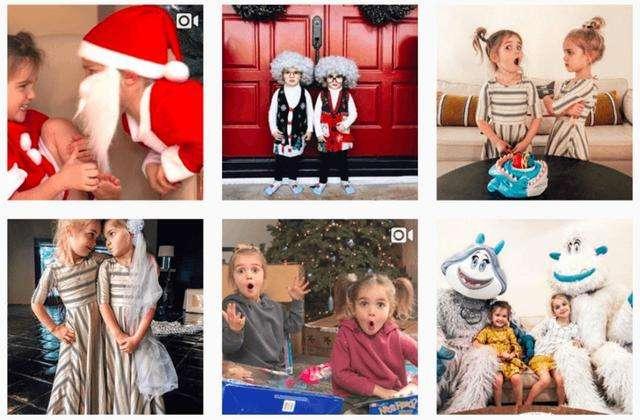Instagram最大的雙胞胎明星, Mila & Emma Stauffer 。(圖/愛范兒ifanr)