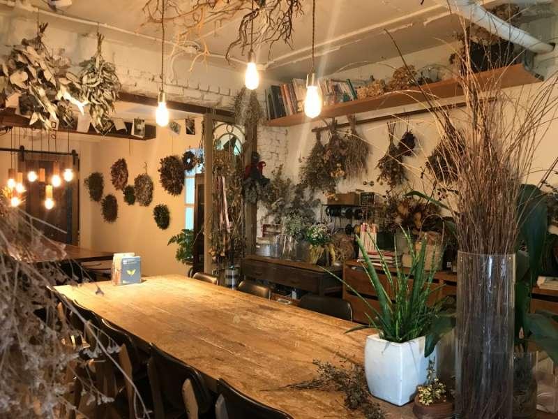 店內有各式各樣的花草及乾燥植物。(圖/kkday)