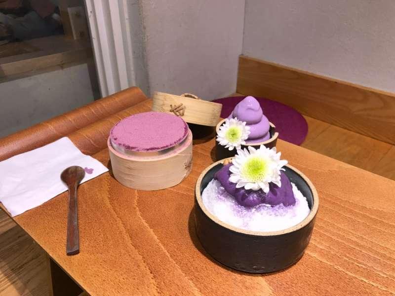 店內主要提供以各種紫薯為材料的天然甜品(圖/kkday)