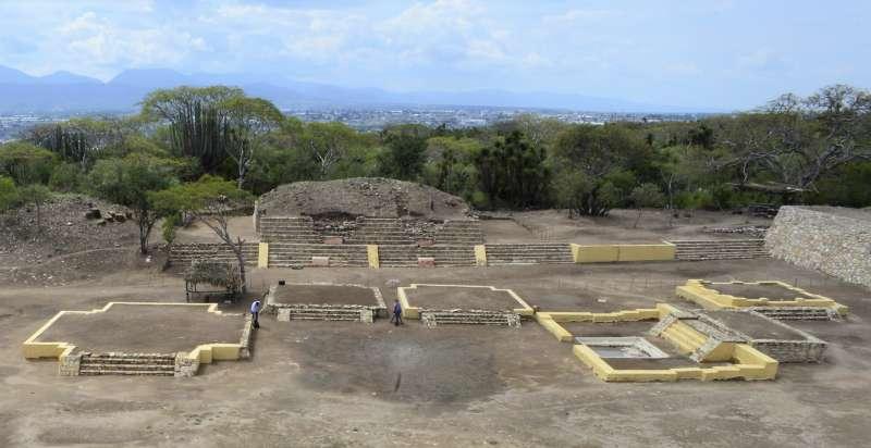 墨西哥近日出土的「剝皮之主」神廟遺址(美聯社)