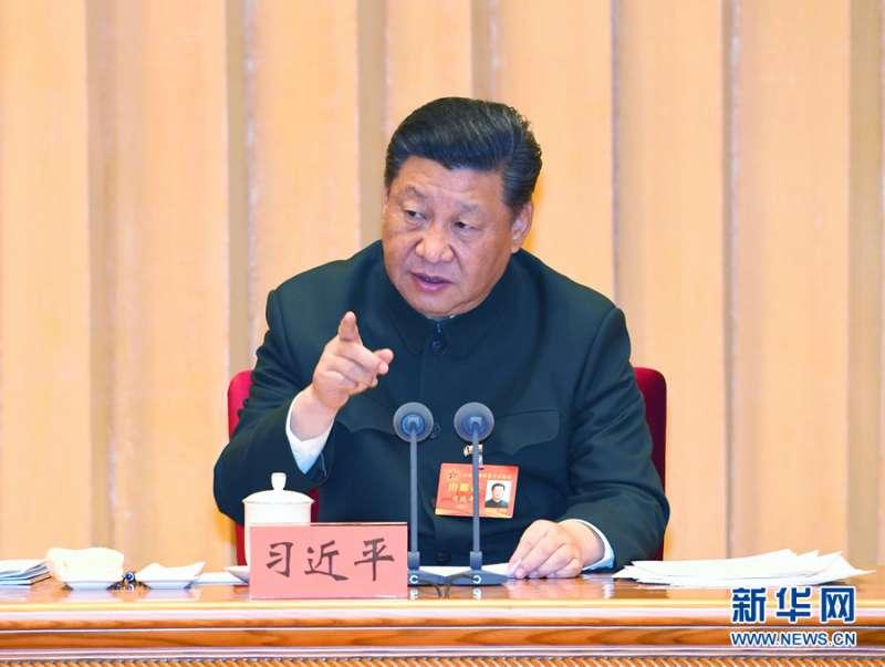2019年1月4日,中央軍委軍事工作會議在北京召開。中共中央總書記、國家主席、中央軍委主席習近平出席會議並發表重要講話(新華社)